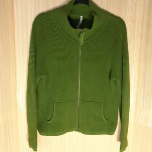 Leo & Nicole full zip cardigan sweater. large